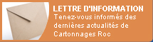 Lettre d'information Cartonnages Roc